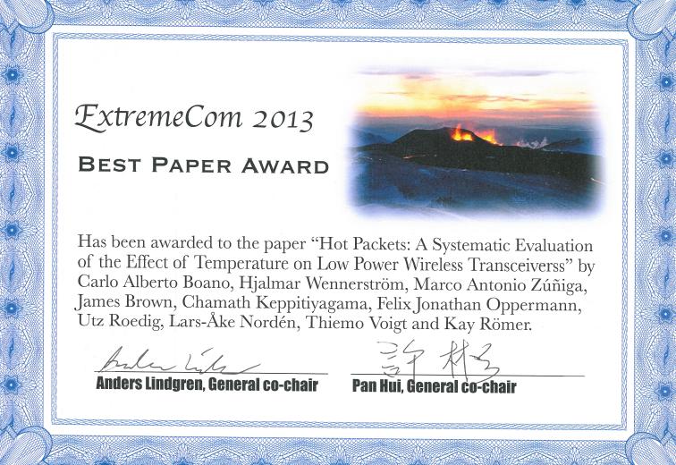ExtremeCom2013award