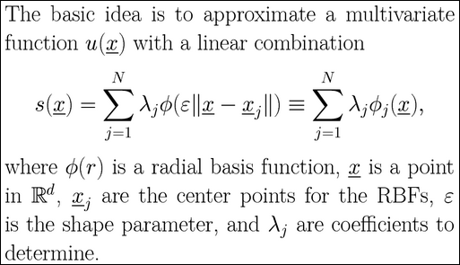 Radial basis function (RBF) approximations for PDE problems